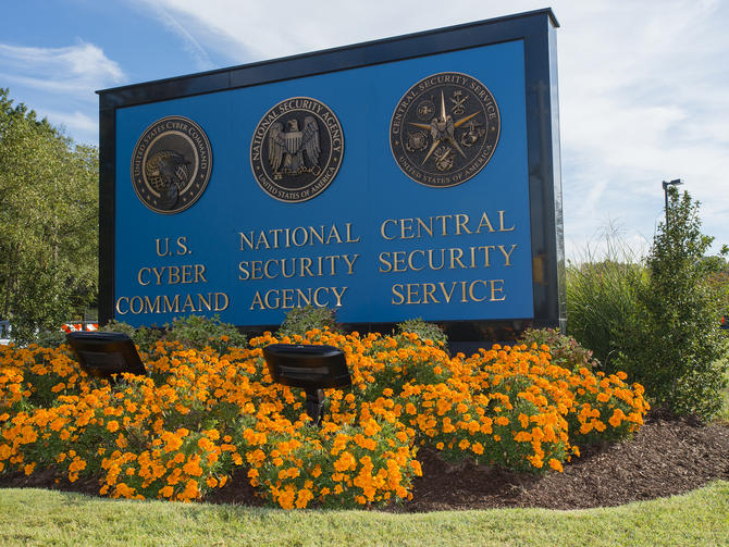 NSA headquarters sign
